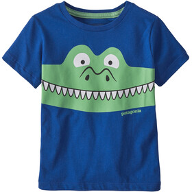 Patagonia Graphic Organic T-Shirt Enfant, patagator/superior blue